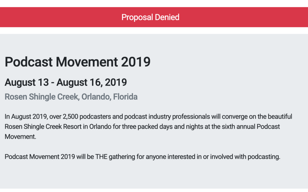 Podcast Movement Talk Denied